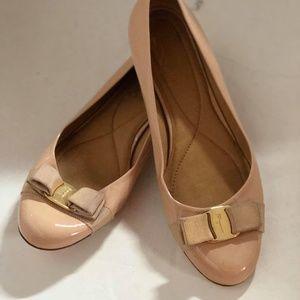 Ferragamo Shoes - Ferragamo Varina patent flats Nude Size 10B #121